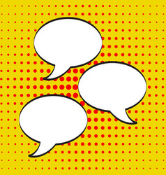 cartoon comic speech bubbles empty dialog clouds vector image