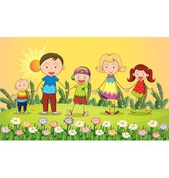 cartoon Smiling kids vector image