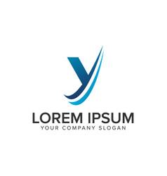 cative modern letter y logo design concept vector image