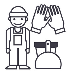 Cleaning servicecleaning man gloves scoop vector