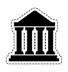 Court building silhouette icon vector