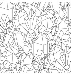 Cute graphic crystal pattern vector