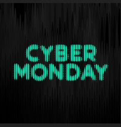 cyber monday digital style technology background vector image