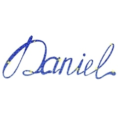 Daniel name lettering tinsels vector image