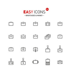 Easy icons 05a briefcases vector