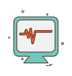 ecg icon design vector image
