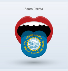 Electoral vote of south dakota abstract mouth vector