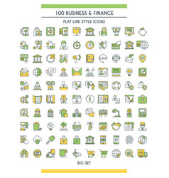 finance big icons set vector image