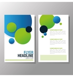 Flyer Headline design Paper icon Colorful design vector image