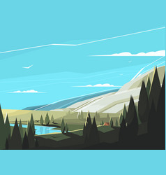 forest natural landscape vector image