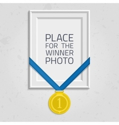 Frame for a photo with medal vector image