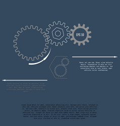 gears with on the grey background infographic vector image