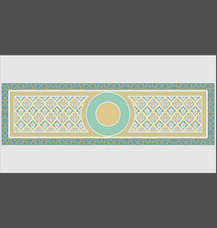 Great complex islamic ornament on the green vector