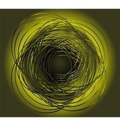 Green circle in motion rotating vector
