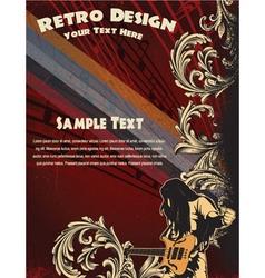 grunge concert poster vector image vector image