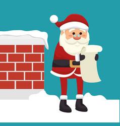Happy merry christmas santa claus character vector