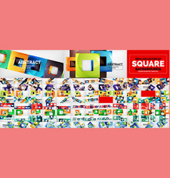 huge mega collection of square geometric shape vector image
