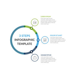infographic template with three elements vector image
