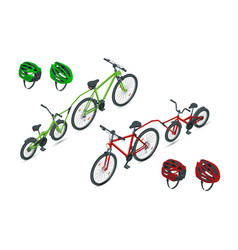 Isometric trailer cycle or bicycle attachment vector