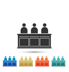 jurors icon isolated on white background vector image