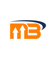 Letter mb business vector
