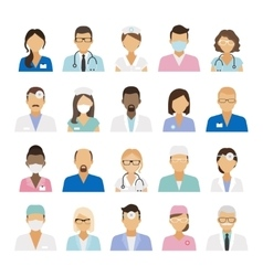 Medical staff icons vector