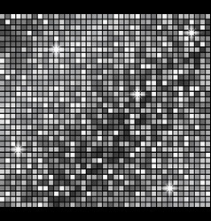metallicsilver mosaics silver disco lights vector image