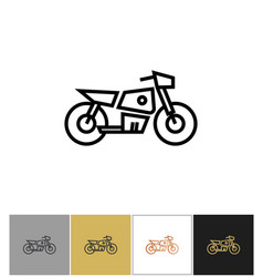 motorcycle icon electric bike sign or motorbike vector image