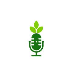nature podcast logo icon design vector image