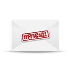 official white closed envelope vector image