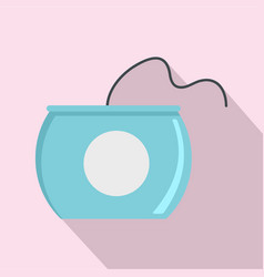 Open dental floss box icon flat style vector
