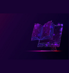 Pc screen and book low poly vector