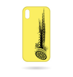 phone cases tire tracks pattern vector image