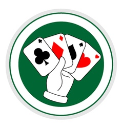 Poker sign vector image