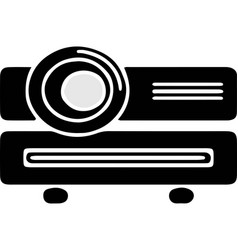 Projector icon on white background vector