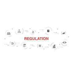 Regulation infographic 10 steps circle design vector