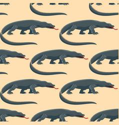 Reptile amphibian varan seamless pattern colorful vector