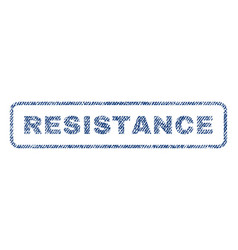 Resistance textile stamp vector