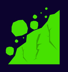 Rockfall icon flat of icon for web vector