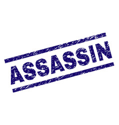 Scratched textured assassin stamp seal vector