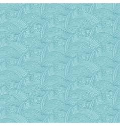 Seamless pattern with hand drawn waves and lines vector