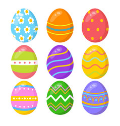 Set colorful easter eggs vector