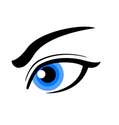 Simple beautiful female human eye icon vector
