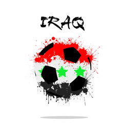 soccer ball in the shape of iraq flag vector image