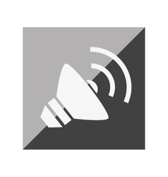 Speaker sound isolated icon vector