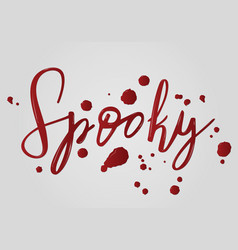 spooky halloween lettering holiday inscription vector image