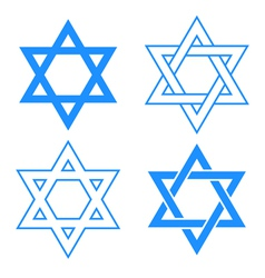 star of david symbol vector image