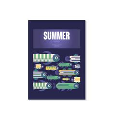 summer poster summer days trendy seasonal vector image