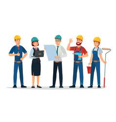 technician workers and engineers team technicians vector image