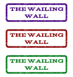 The wailing wall watermark stamp vector